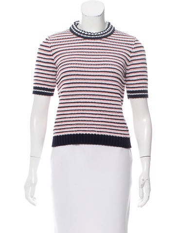 Miu Miu Knit Short Sleeve Top None