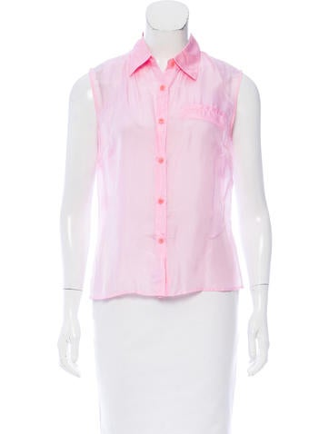 Miu Miu Sleeveless Button-Up Top None