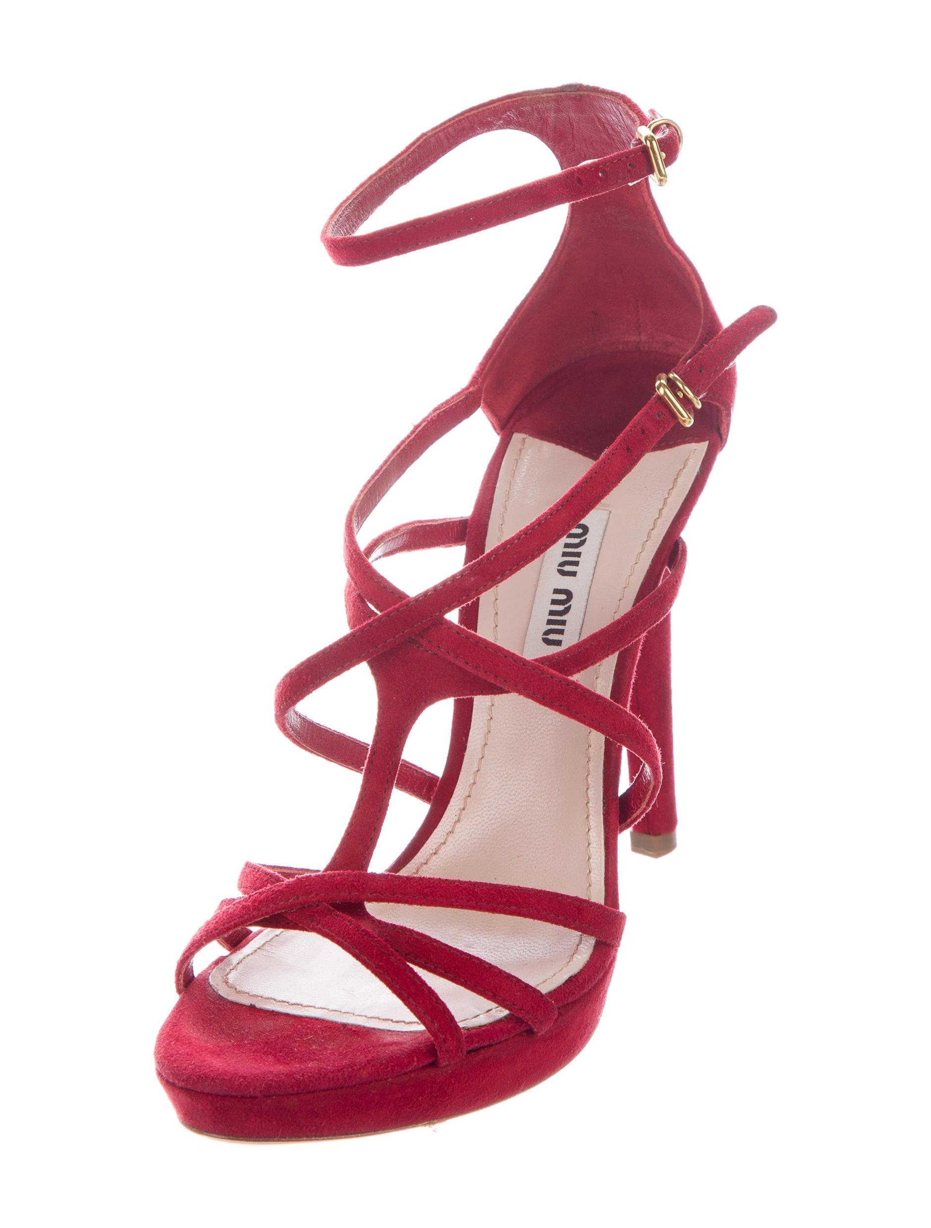 Miu Miu Platform Cage Sandals - Shoes