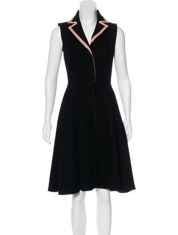 Miu Miu Wool A-Line Dress None