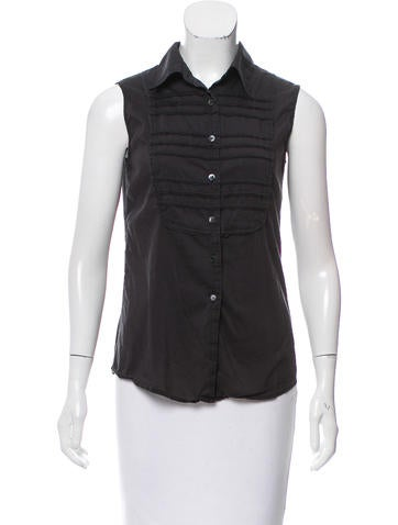 Miu Miu Sleeveless Button-Up Top None