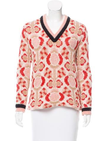 Miu Miu Wool Rib Knit Sweater None