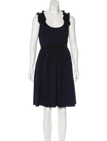 Miu Miu Pleated A-Line Dress None