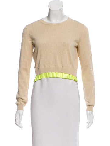 Miu Miu Contrast Cropped Sweater None