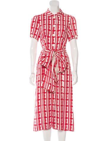 Miu Miu Spring 2017 Silk Dress None
