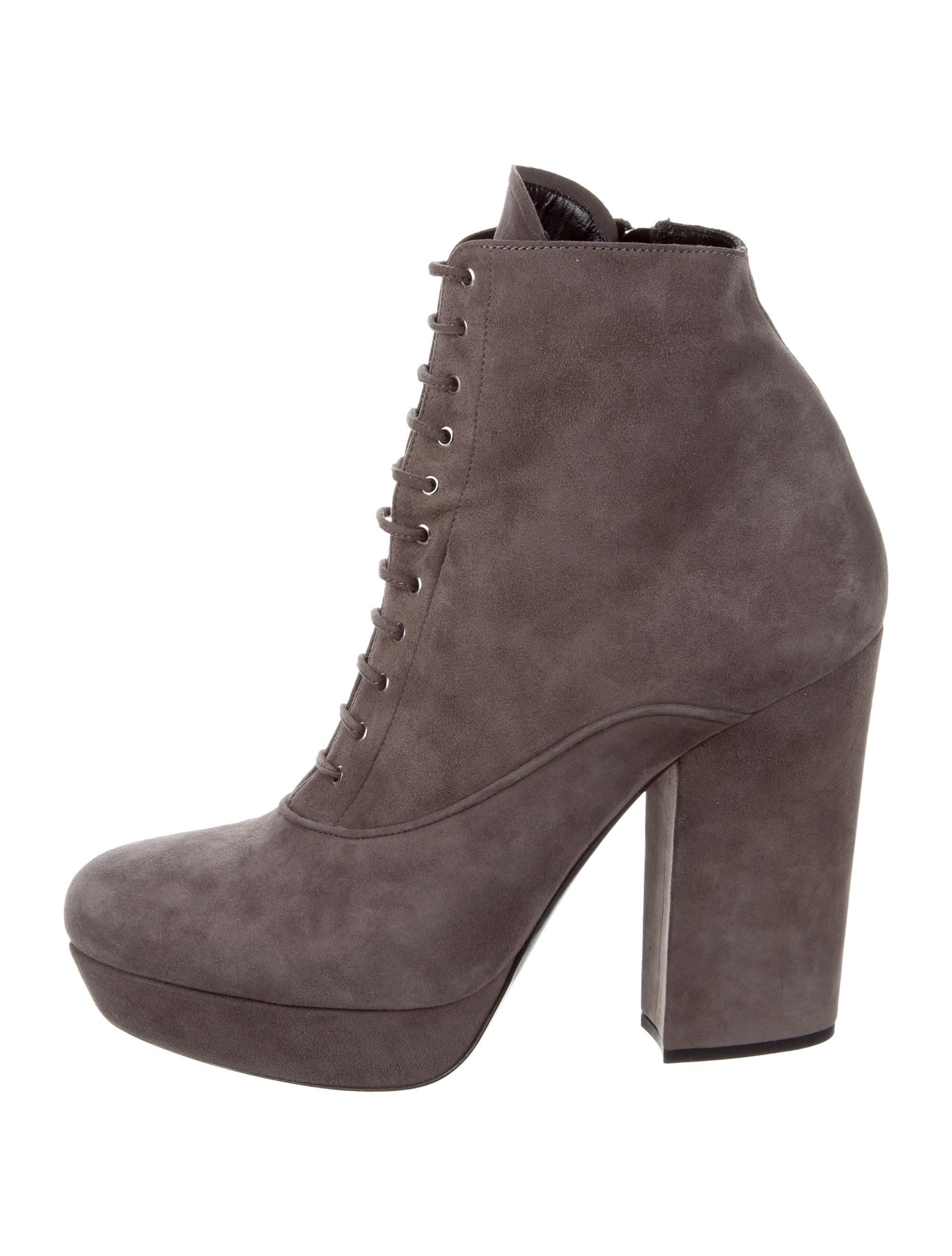 miu miu suede platform ankle boots shoes miu54789