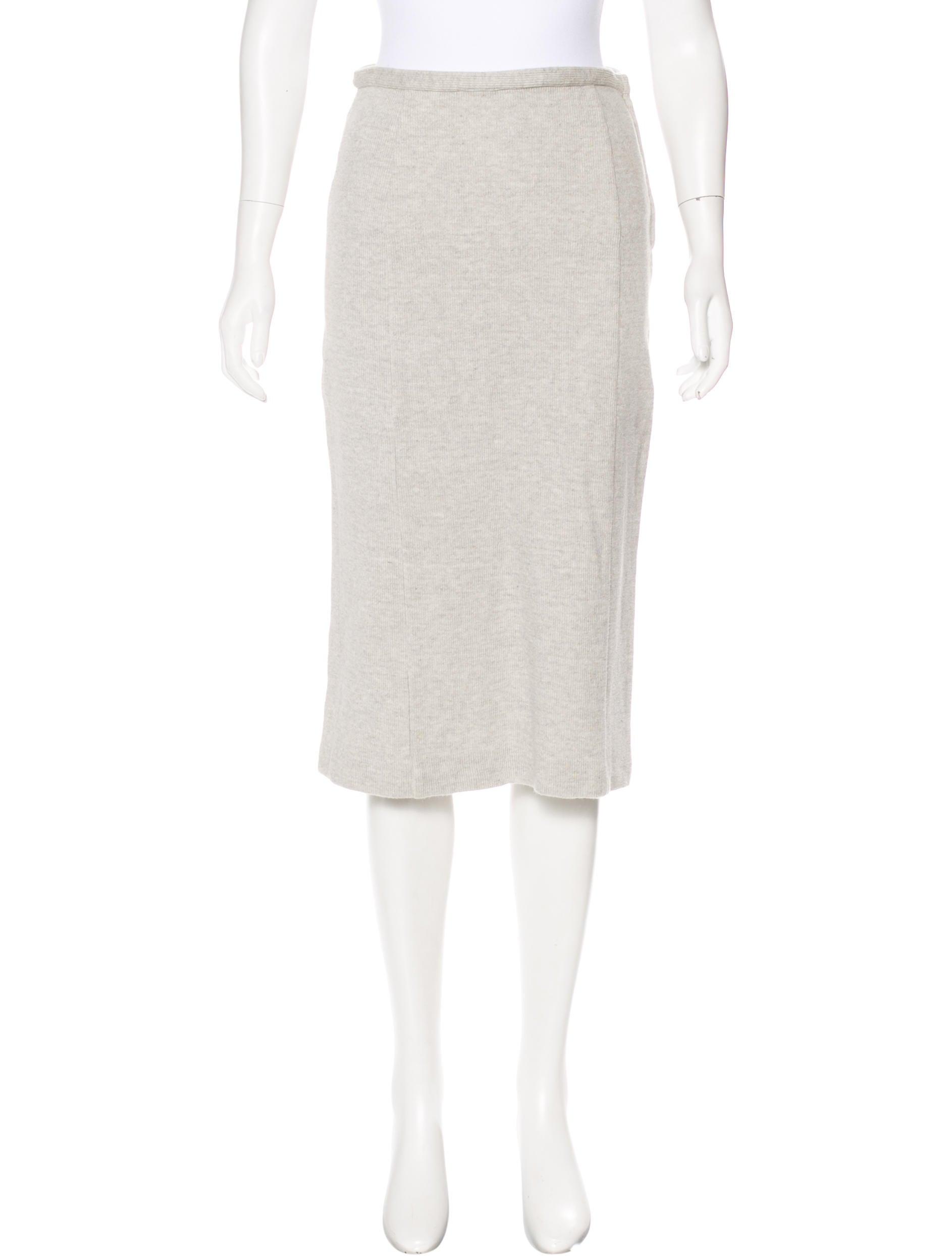 Miu Miu Rib Knit Pencil Skirt - Clothing - MIU54990 | The ...