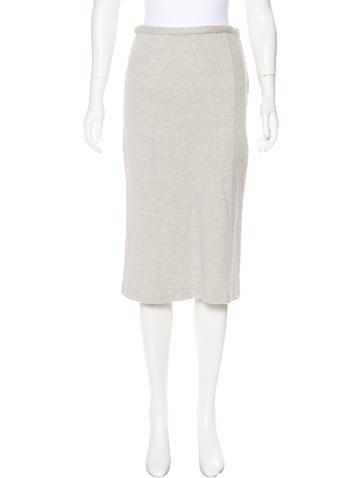 Miu Miu Rib Knit Pencil Skirt None