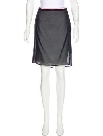Miu Miu Sheer Cover-Up Skirt None
