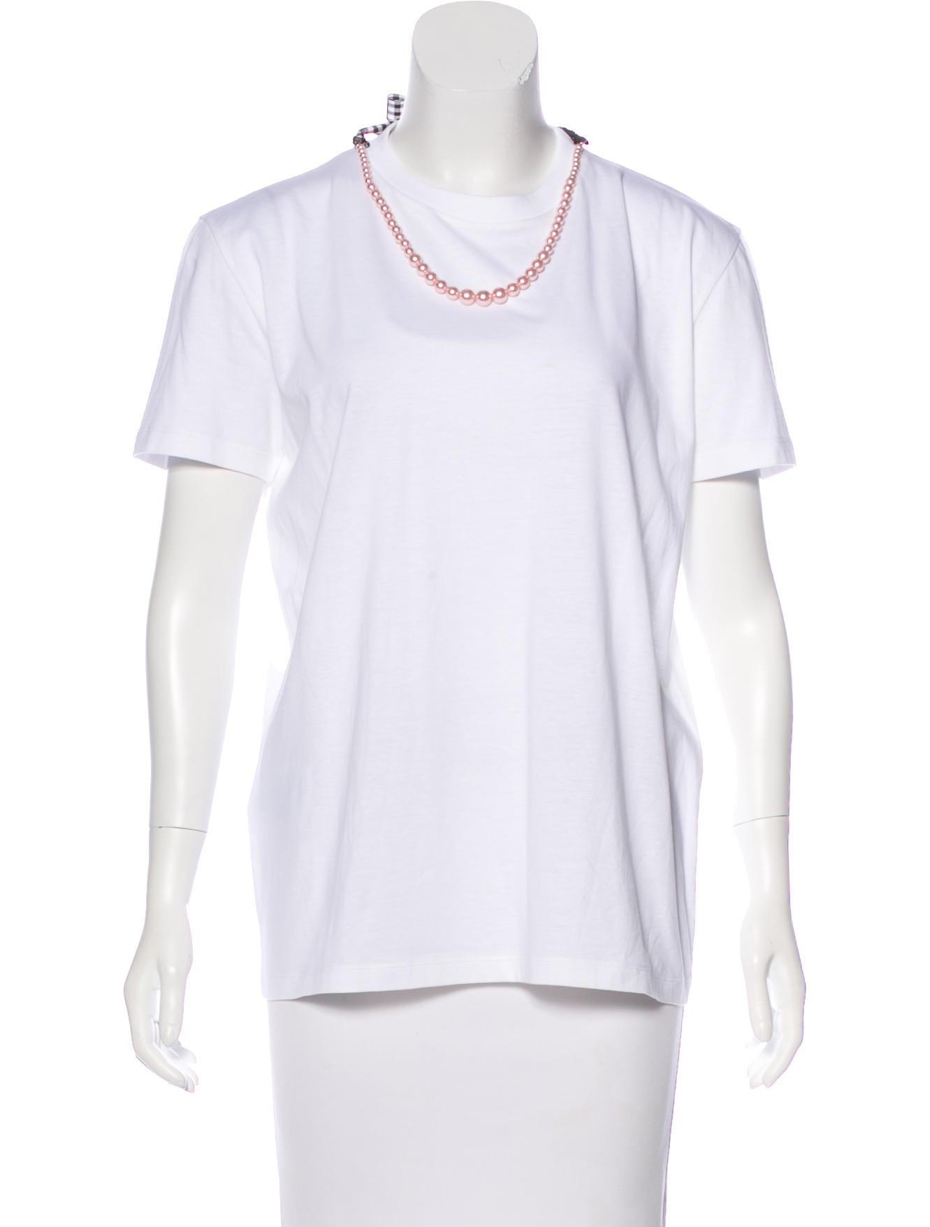 Miu miu 2017 embellished t shirt clothing miu55116 for Miu miu t shirt