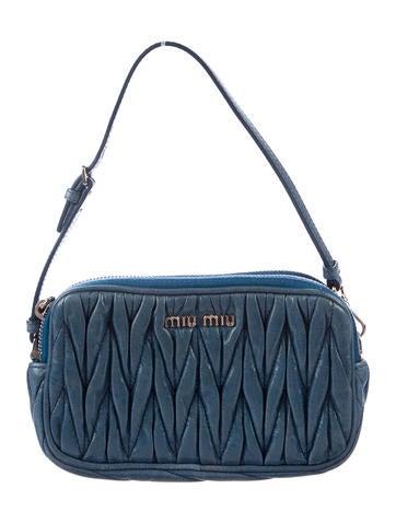 Miu Miu Mini Matelassé Pleated Bag None