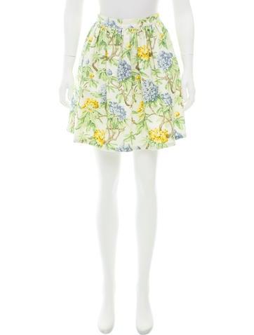 Miu Miu Floral Mini Skirt None