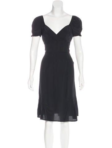 Miu Miu Silk Midi Dress None