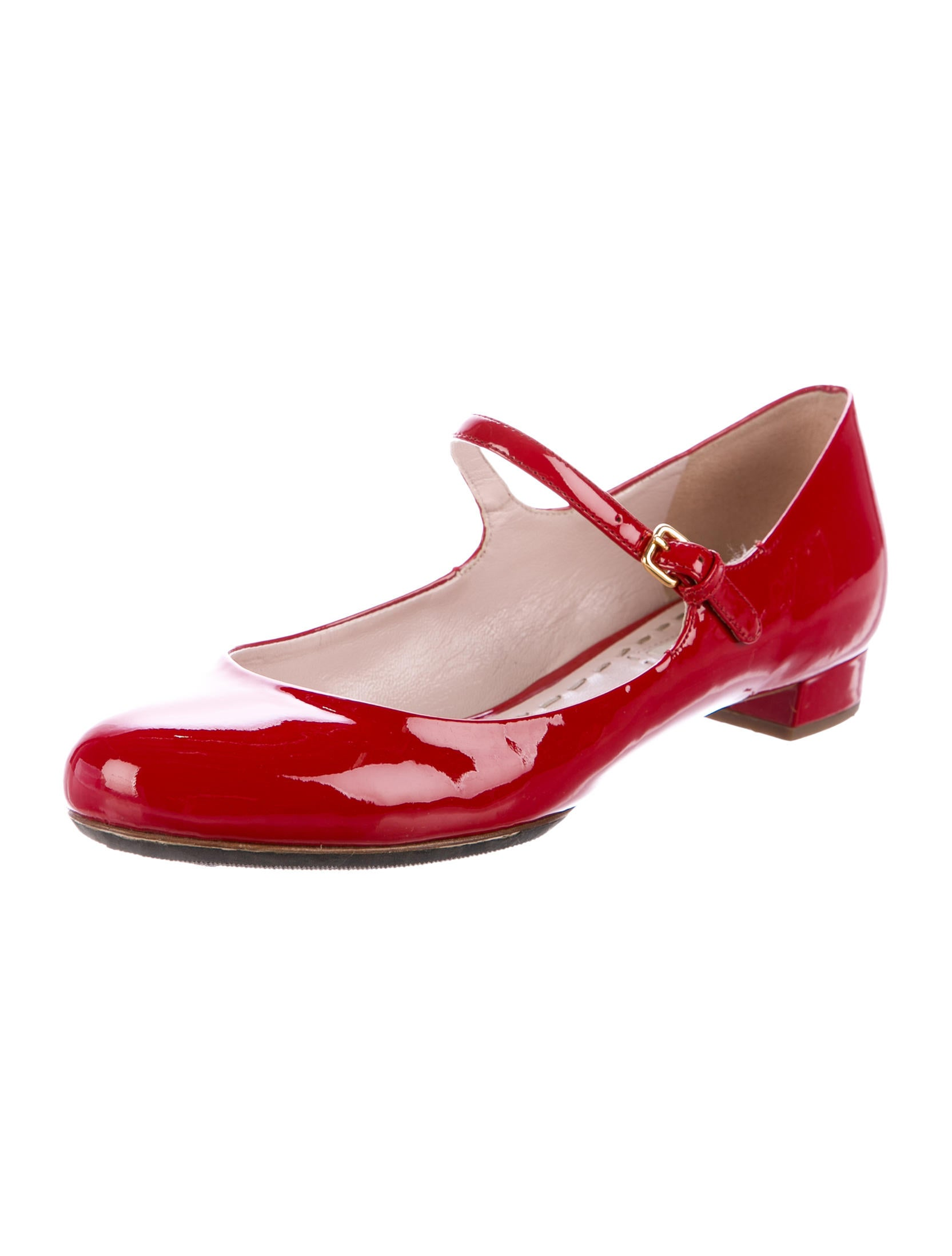 Red Patent Leather Mary Jane Shoes