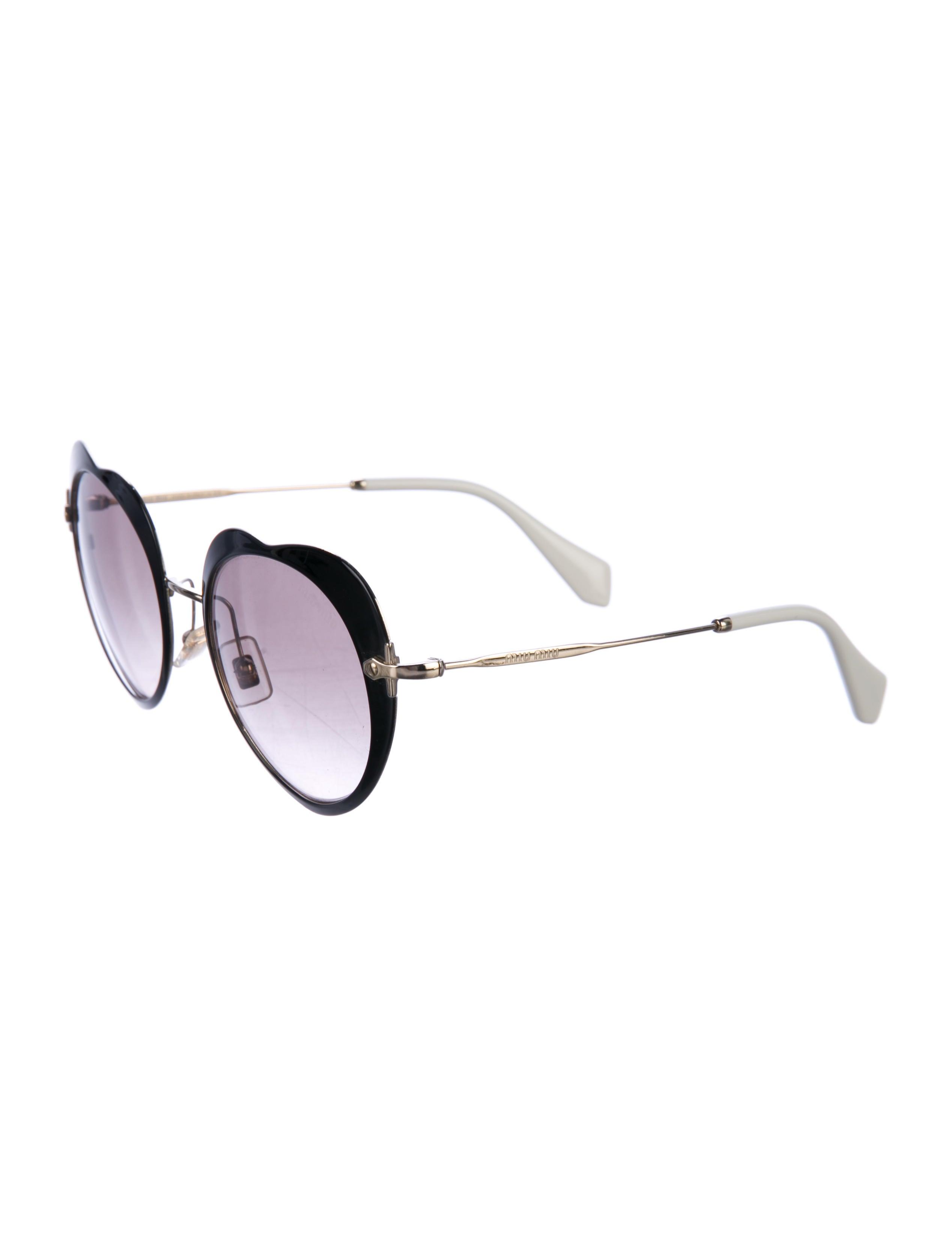 b23e9a51c2e6 Miu Miu Double Heart Sunglasses