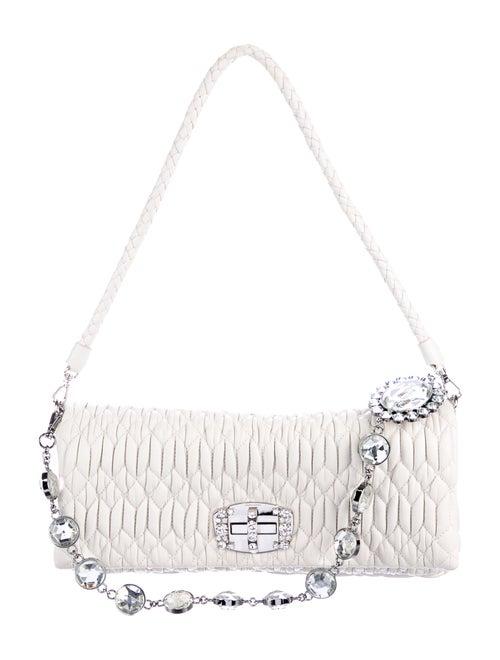 59033989fd3 Miu Miu Matelassé Nappa Leather Evening Bag - Handbags - MIU55558 ...