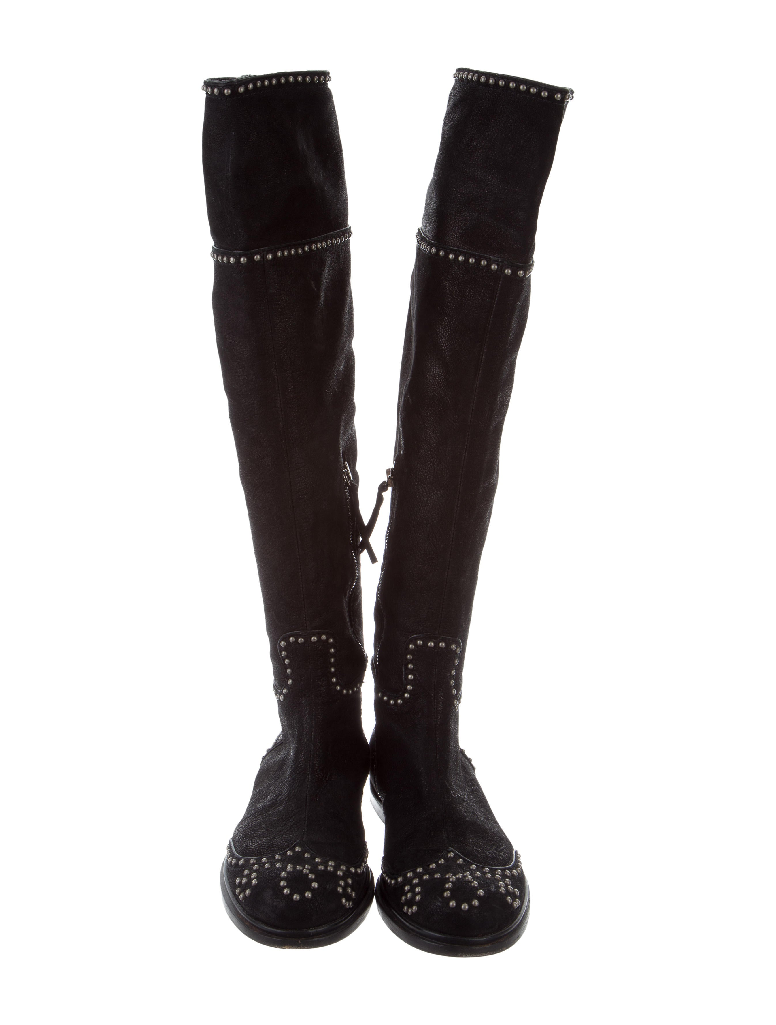 huge surprise online Miu Miu Stud-Embellished Over-The-Knee Boots outlet explore clearance cheapest price buy cheap 100% original big discount for sale CV8yS3Ad
