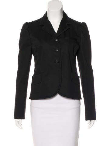 Miu Miu Fitted Button-Up Blazer None