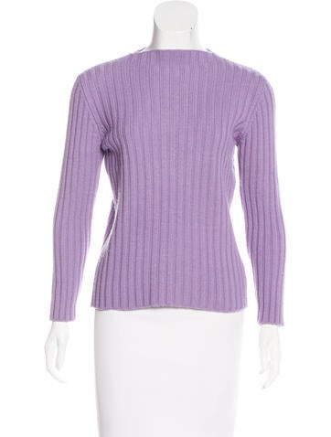 Miu Miu Rib Knit Wool Sweater None