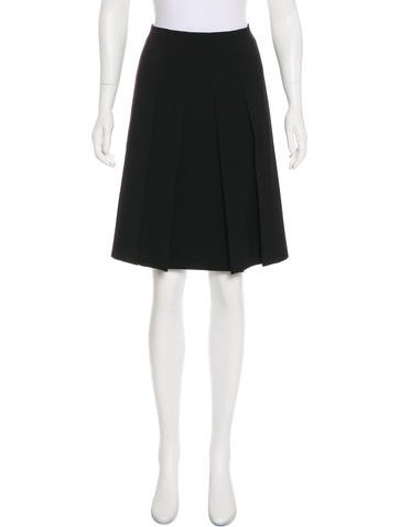 Miu Miu Wool Pleated Skirt None