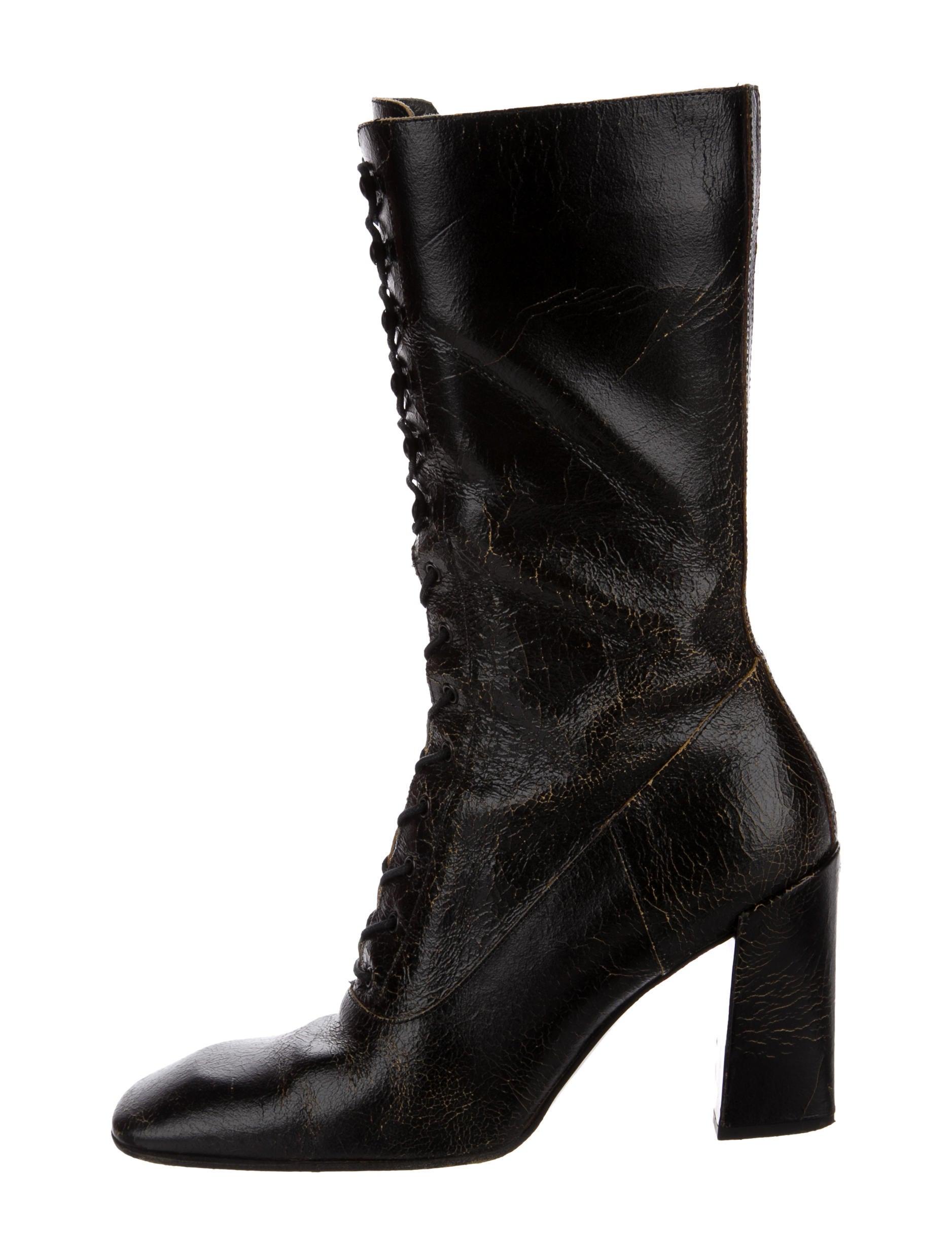 Miu Miu Lace-Up Mid-Calf Boots cheap 100% authentic sale marketable cheap outlet cheap price outlet sale plr0k9