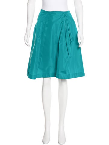 Miu Miu Pleated A-Line Skirt None