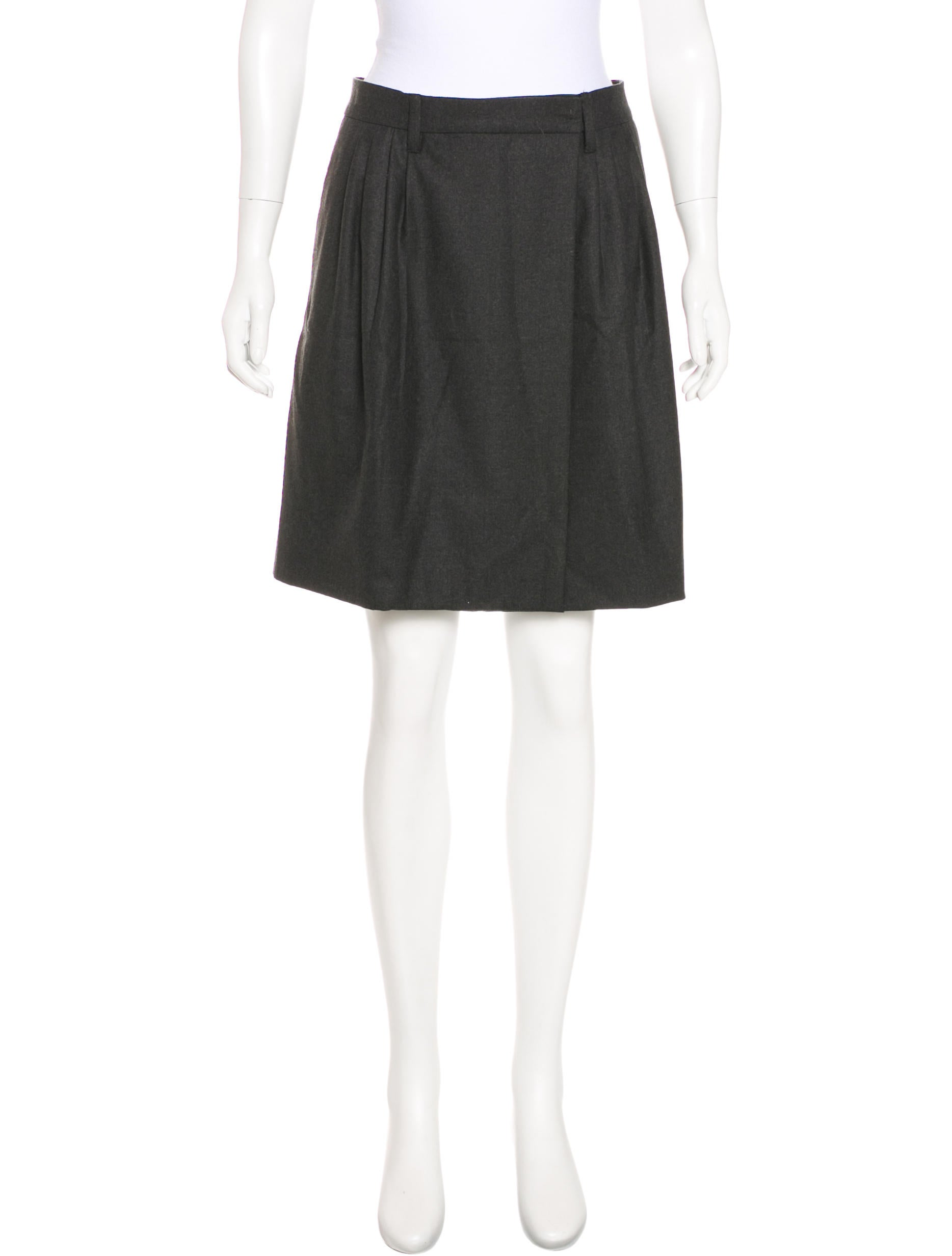 ee5f0e42a1b Miu Miu Wool Mini Skirt - Clothing - MIU56309