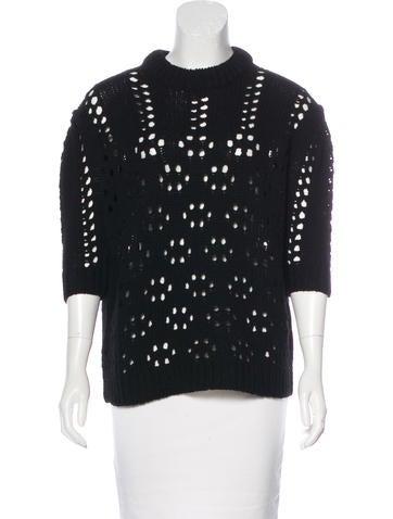 Miu Miu Open Knit Wool Sweater None