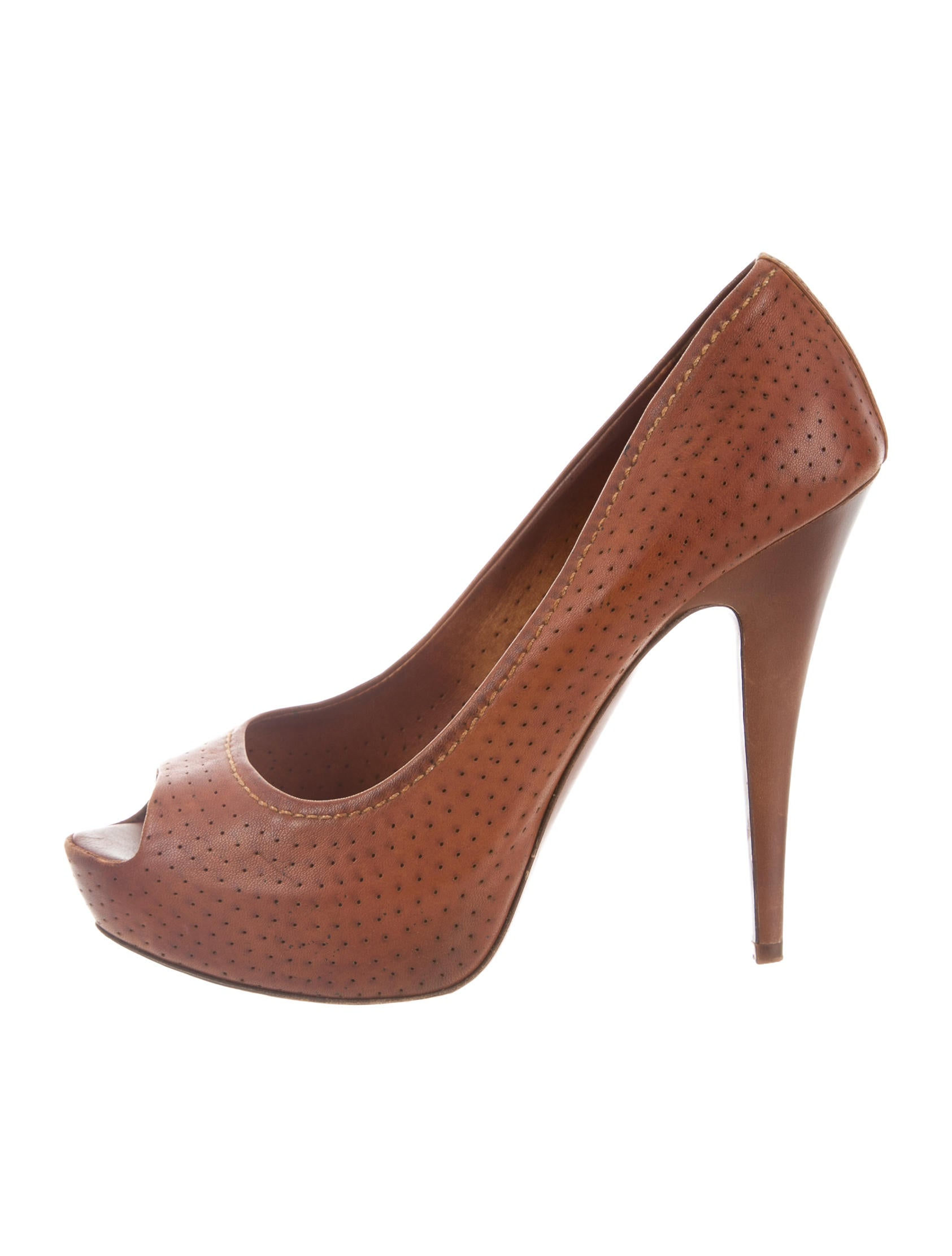 free shipping low price Miu Miu Perforated Peep-Toe Pumps pick a best online discount browse discount free shipping discount lowest price JaxSgVF