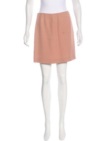 Miu Miu Textured Mini Skirt None