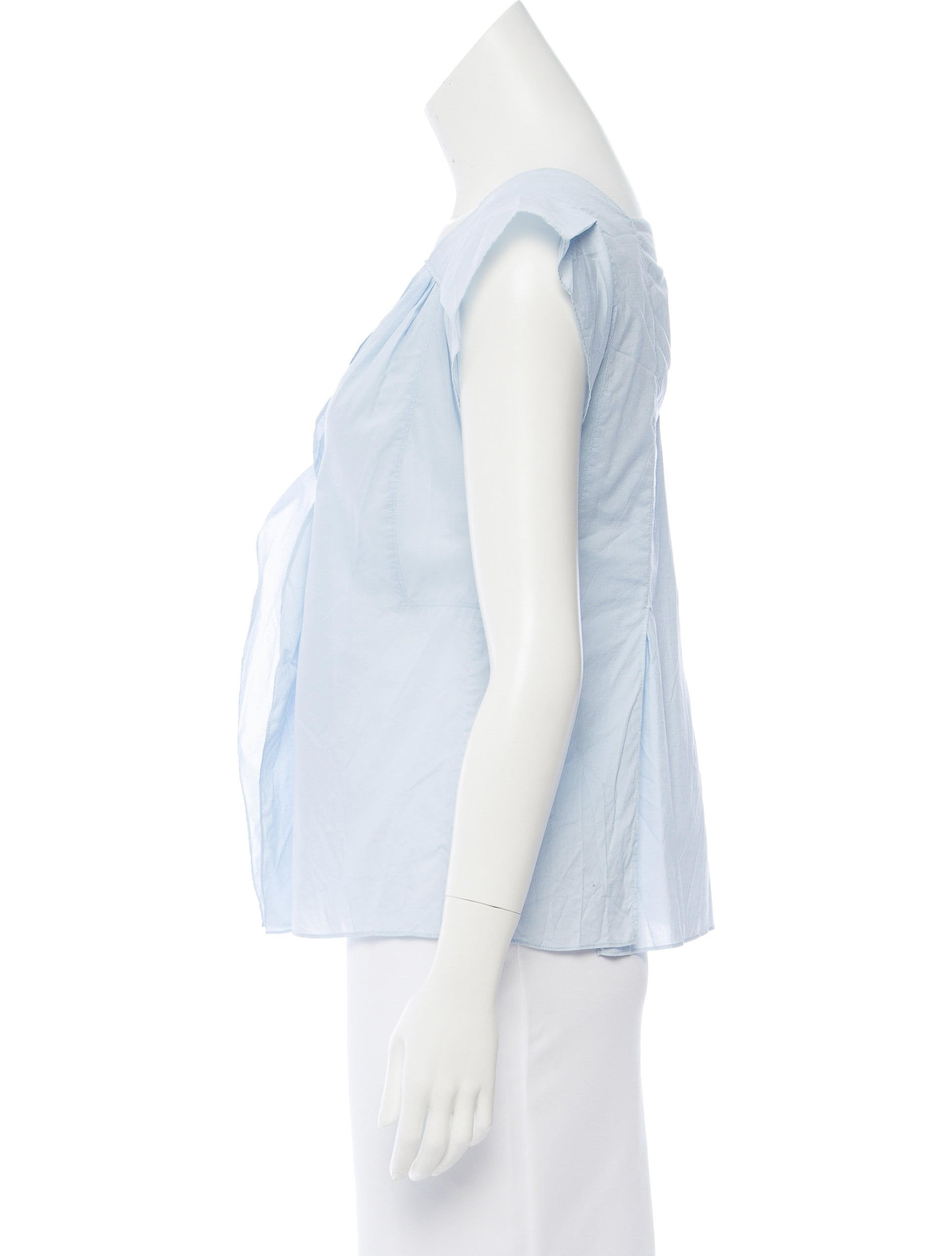 opens draped window white a en drape sleeveless drapes large blouse detail uniqlo goods new women top us off