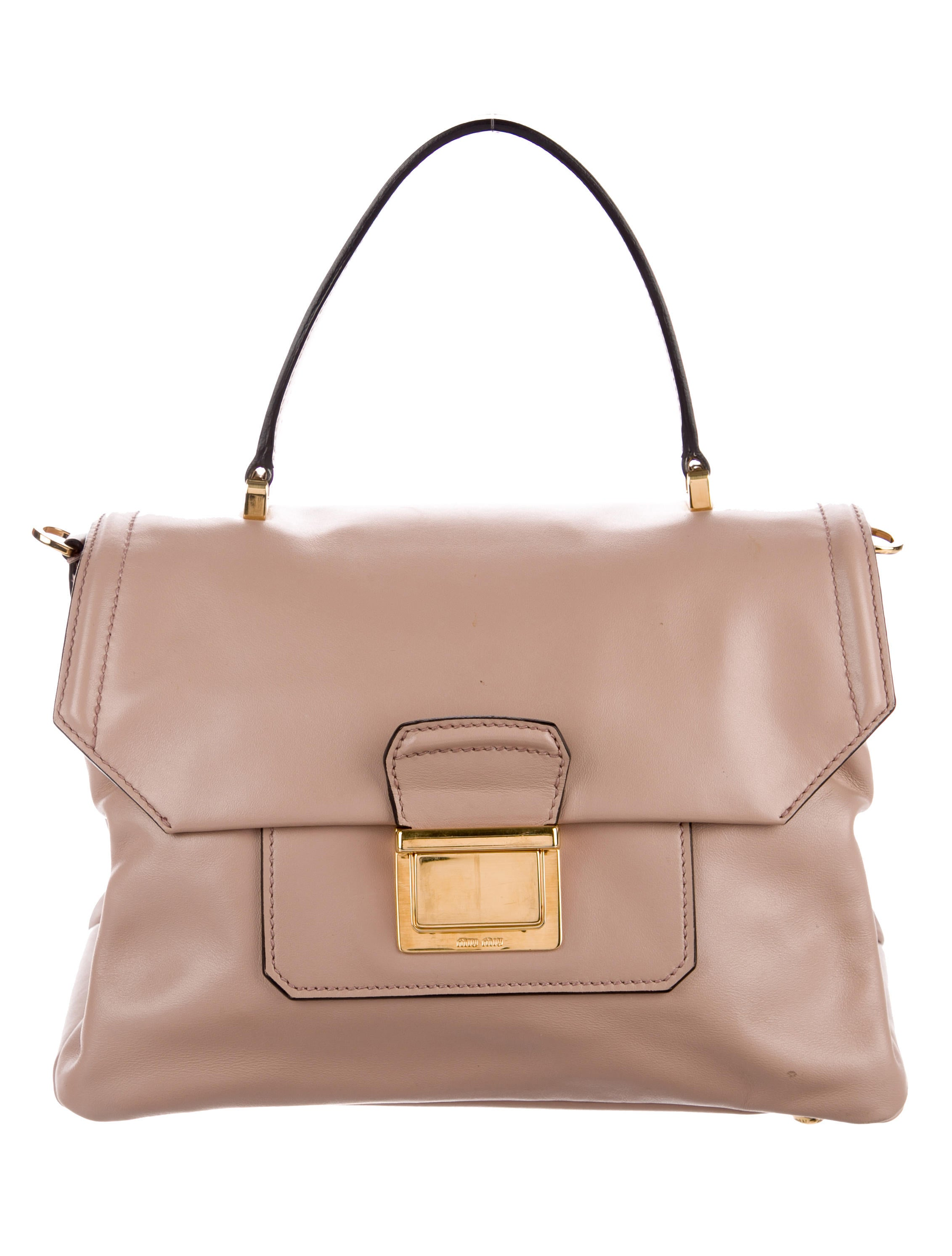 Women · Handbags  Miu Miu Smooth Leather Satchel. Smooth Leather Satchel 163a5077ba685