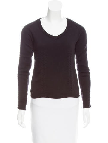 Miu Miu Wool Long Sleeve Sweater None