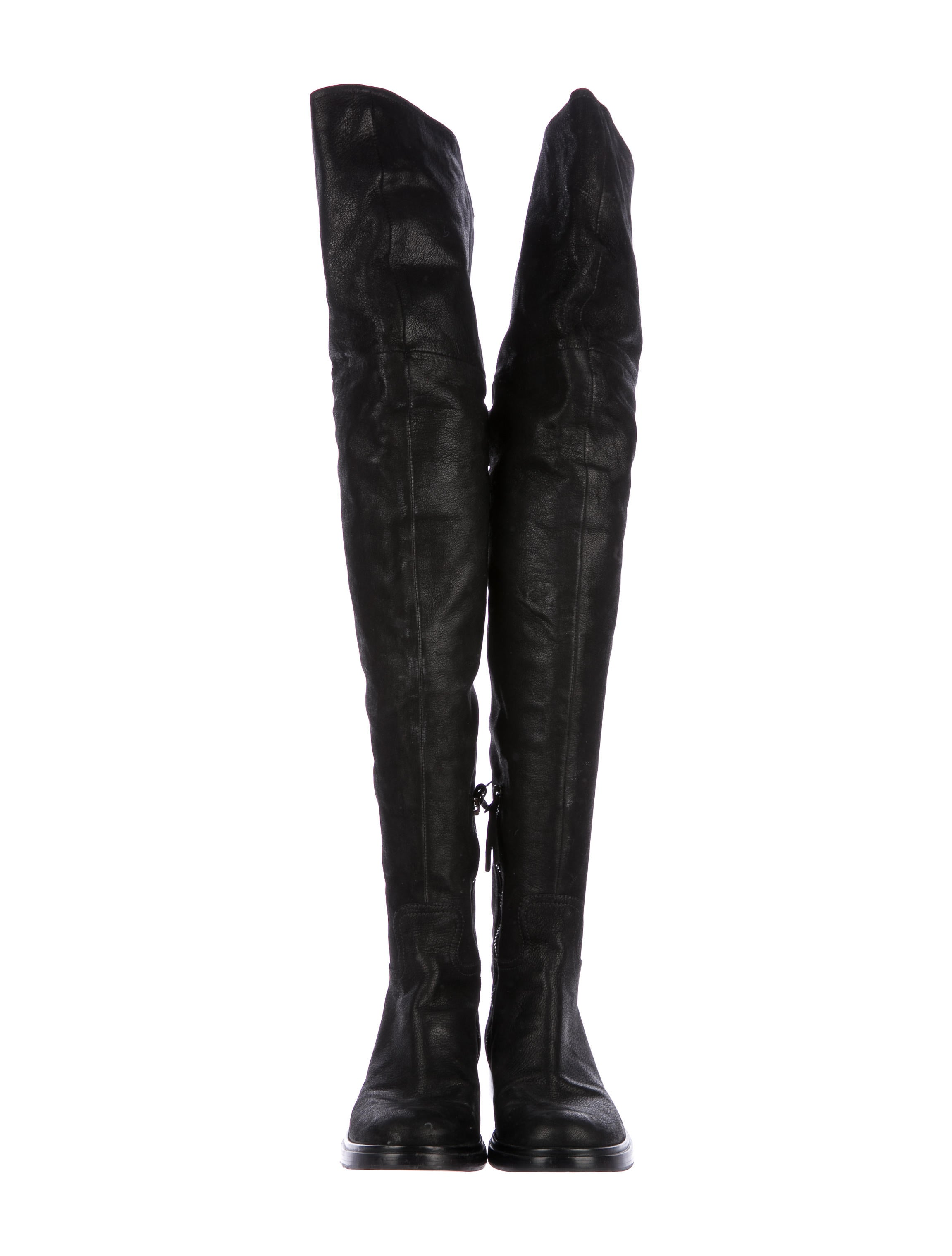 Miu Miu Thigh-High Whipstitch Boots