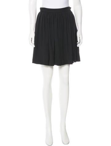 Miu Miu Silk-Blend Skirt None