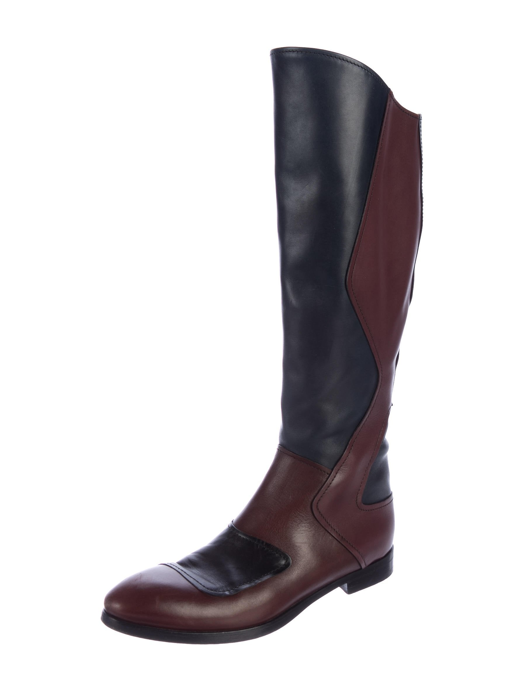 Miu Miu Knee-High Colorblock Boots clearance shop for exclusive sale online clearance eastbay cheap sale affordable MxZxM62f