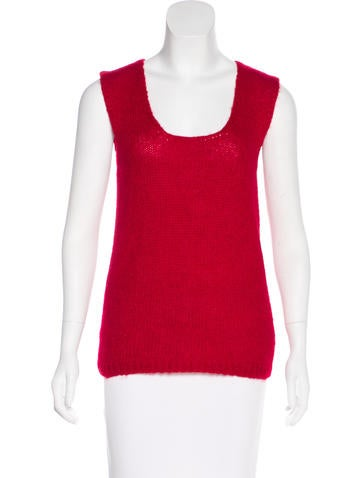 Miu Miu Mohair-Blend Sleeveless Top None