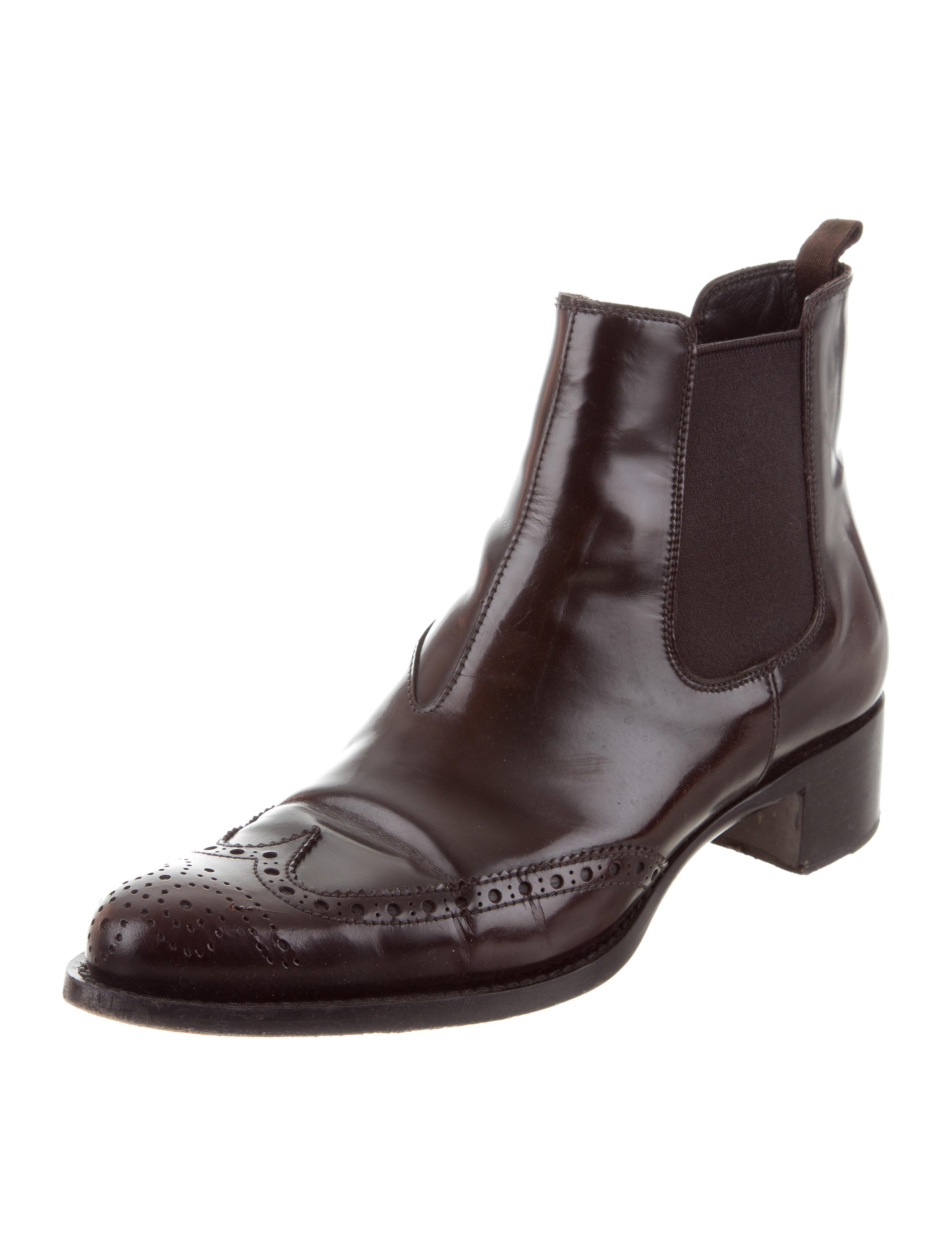 Miu Miu Brogue Leather Ankle Boots fashion Style for sale outlet 100% guaranteed best prices cheap online Y3htWq