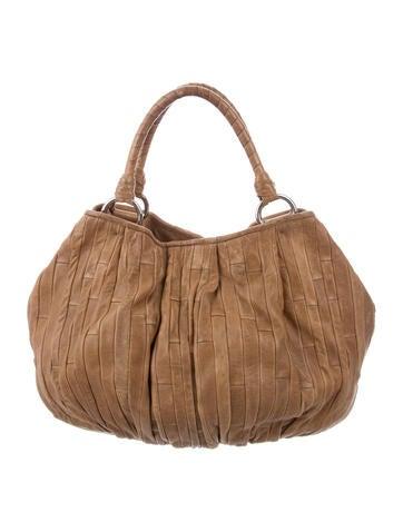 Miu Miu Pleated Leather Bag None