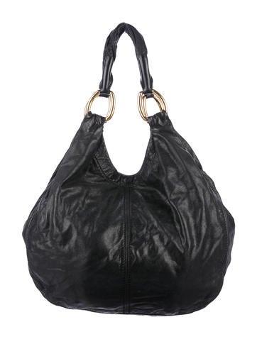 Miu Miu Distressed Leather Hobo - Handbags - MIU58700  578a1f843ff61