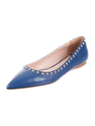 Studded Pointed-Toe Flats