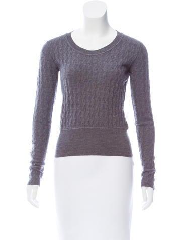 Miu Miu Wool Scoop Neck Sweater None