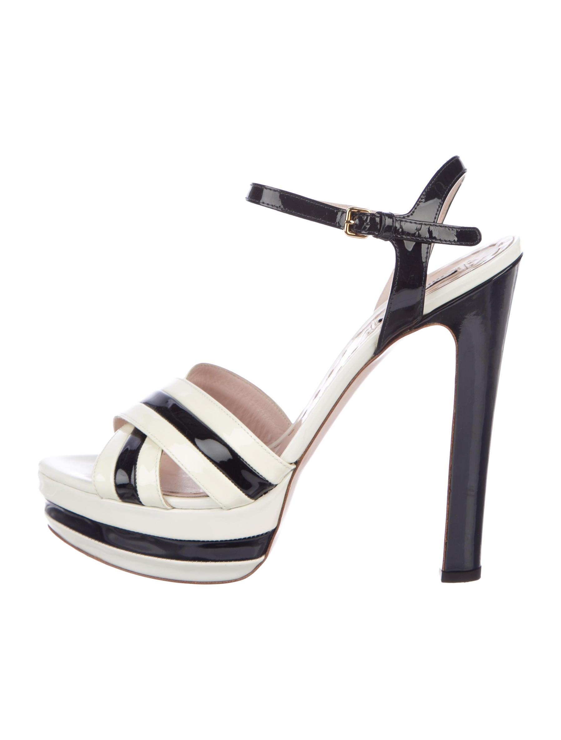ba41598de5a Miu Miu Crossover Platform Sandals - Shoes - MIU58935
