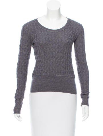 Miu Miu Wool Scoop Neck Sweater None