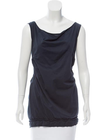 Miu Miu Scoop Neck Sleeveless Top None