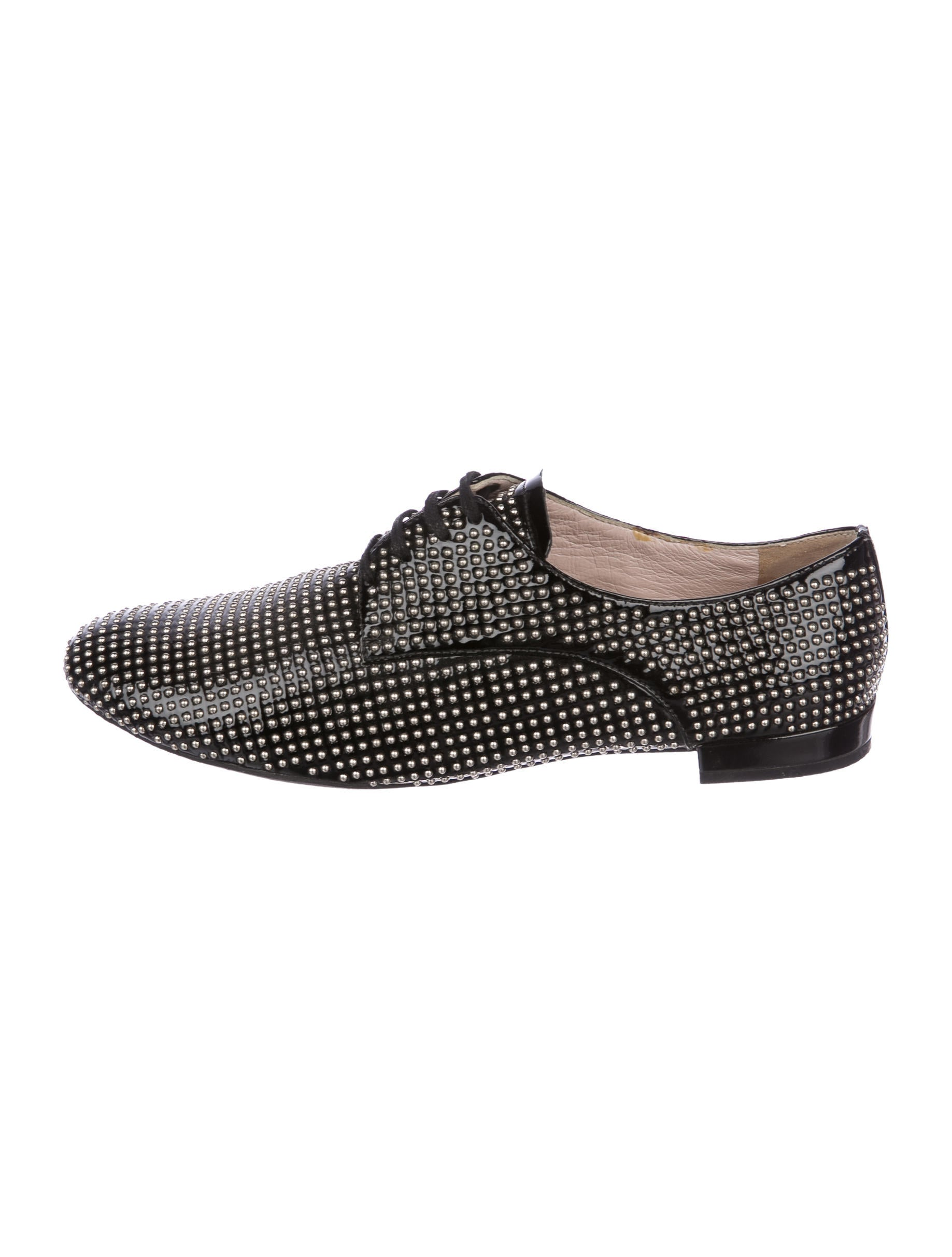 Miu Miu Patent Leather Studded Oxfords free shipping wholesale price cheap price pre order clearance enjoy discount brand new unisex sale top quality ELjiv5H