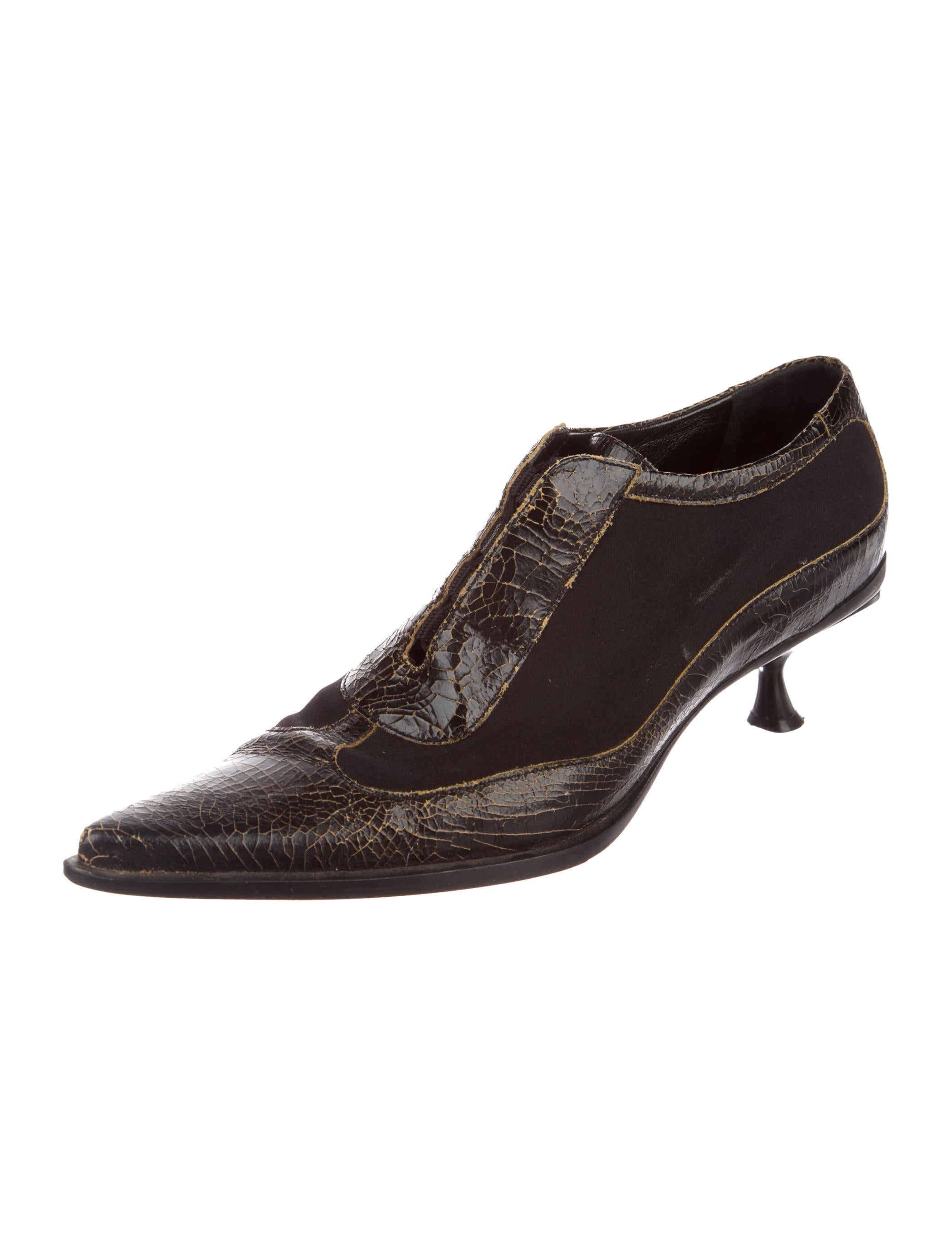 Miu Miu Cracked Leather Oxfords quality outlet store discount best place low price fee shipping sale online with paypal low price cheap sale very cheap DajTV