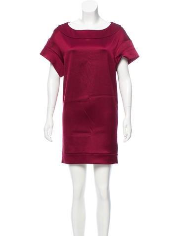 Miu Miu Silk Rib Knit Dress None