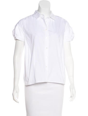 Miu Miu Short Sleeve Button-Up Top None