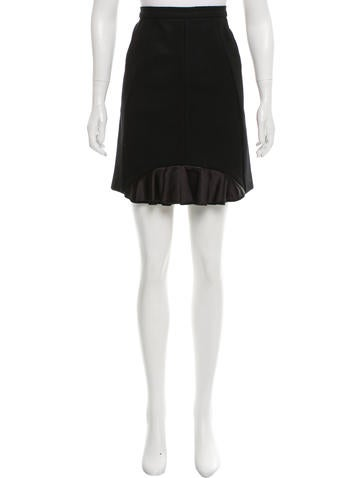 Miu Miu Wool-Blend Skirt None